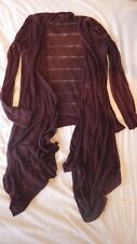 Ladies Linen mix waterfall cardigan Size 10/12