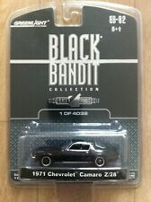 Greenlight '71 1971 Chevrolet Camaro Z28 Black Bandit 1 of 4032 1/64