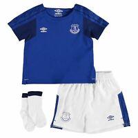 Everton Baby Football Soccer Kit Top Bottom Socks 2017/18 Blue/White 77574U