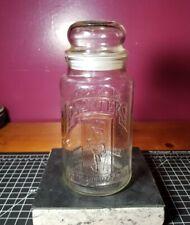 Vintage 1981 75th Anniversary Planters Mr. Peanut Glass Jar with Lid. Clean!!