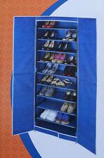WENKO Schuhschrank AIR mit 9 Böden für bis zu 30 Paar Schuhe Schrank blau