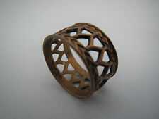 """seltener BRONZE RING """"Finnland DESIGN """" bronce vintage RING 18 mm !"""