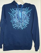 New Mens Medium 38-40 The Amazing Spider-Man Hoodie Jacket Blue Center Pocket