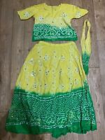 New! womens indian bollywood, outfit, Tie Dye, Size 38, M, Unwanted Gift