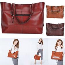 Retro Damentasche Leder Handtasche Shopper Umhängetasche Schultertasche tasche