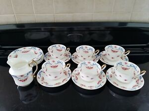 Vintage fine bone china tea set. Rose-buds and Ribbons.