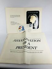Assassination Of A President News Paper + Aluminium Memorial Plaque