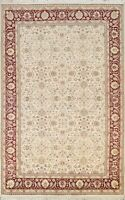 Floral Oriental Traditional Vegetable Dye Wool/ Silk Hand-Knotted Area Rug 6x8
