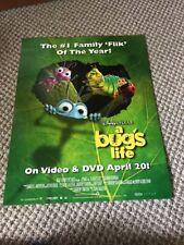Disney/Pixar A Bug's Life VHS Promo Poster