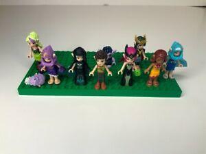 LEGO Elves Minifigure Lot, Noctura, Ragana, Naida, Aira, Goblin King