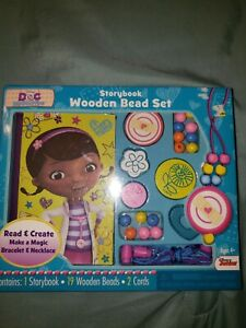 New Disney Doc McStuffins Storybook Wooden Bead Set Art Activity