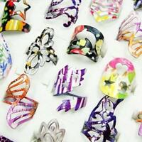 10pcs Wholesale lot rings fashion colored Enamel glaze alloy woman free shipping