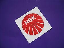 NGK round sticker/decal x2