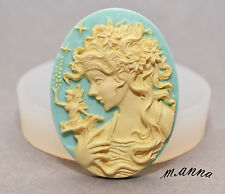 LADY CAMEO fairy silicone mould - cup cake topper polymer clay resin fimo mold