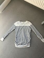H&M maternity striped jumper blue and white Size 12 used