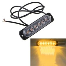 Yellow 6LED Emergency Strobe Light Bar Warning Flashing Truck Car Headlight