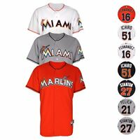 Miami Marlins Authentic On-FIeld Cool Base Jersey Collection MAJESTIC - Men's