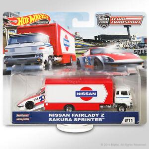 Hot Wheels TEAM TRANSPORT Mix D #11 NISSAN FAIRLADY Z (5-spoke wheels var)