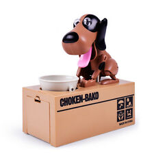 kids Choken Bako Coin Greedy Dog Mechanical Robotic Money Bank Saving Box Cute