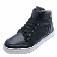 MENS SMART BLACK LACE-UP TRAINER COMFY SMART CASUAL BOOTS SHOES PUMPS SIZES 6-12