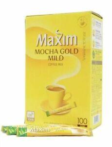 Maxim Korean Instant Coffee Mix Original / Mocha Mild easy to open - 100 sticks