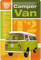 VW Camper Van T2 Geprägt Metallschild 300mm x 200mm (Na )