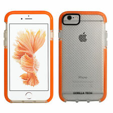 for iPhone Gorilla Tech Mesh Slim Flex Shockproof Case Thin Protective Cover Apple iPhone 7 Orange