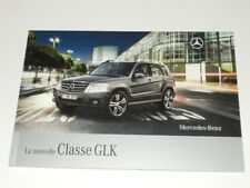 MERCEDES-BENZ SUV classe GLK brochure catalogue souple édition 04/2008