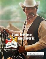 1983 Marlboro Man Cowboy Darrell Winfield Roping photo Marlboro Cigarettes Ad