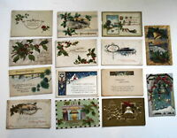 LOT OF 28 MERRY CHRISTMAS  ANTIQUE  POSTCARDS
