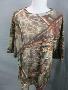 Huntworth Size XL Mens Brown Cotton Short Sleeve Outdoor Hunting T-Shirt T382