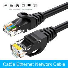 10 Metre Black Ethernet Cable CAT 5e RJ45 LAN Network Internet Router Lead 10M