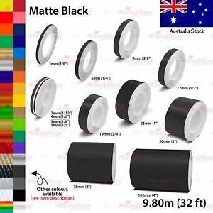 2mm-100mm PIN STRIPE Car Model Bike Truck Line TAPE Vinyl Stickers MATTE BLACK