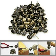 New listing 100X Antique Brass Bronze Upholstery Nail Jewelry Gift Wine Case Box Sofa Decor