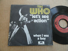 "DISQUE 45T DE THE WHO  "" LET'S SEE ACTION """