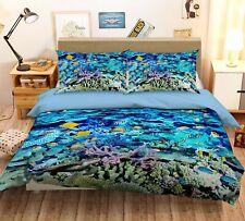 3D Blue Deep Sea Coral Fish Kep931 Bed Pillowcases Quilt Duvet Cover Kay