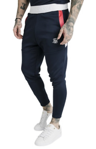 SikSilk Function Track Pants - Navy - Mens Joggers Trousers - BNWT Sik Silk