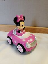 New listing Minnie Mouse Toy Car Push and Go Racer Pink with White Polka Dots Hap-P-Kid Fs