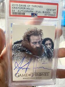 2015 Game Of Thrones Autograph Kristofer Hivju Full Bleed Tormund PSA 10