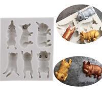 Sleeping Dog Corgi Fighting Cat Silicone Mould Chocolate Mold Soap Baking DIY SA