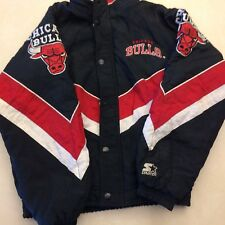 c99008e646e11c Vintage Starter Chicago Bulls Jordan Puffer Winter Jacket Boy SZ L PRICE  LOWER