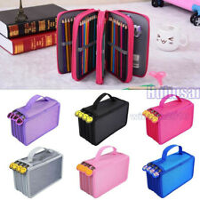 72Slots Hard Shell Pen Pencil Case Makeup Cosmetic Organizer Travel Storage Bag