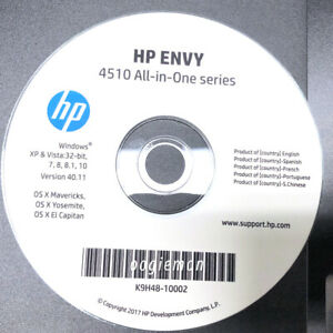 Setup CD ROM for HP Envy All-in-One 4510 Series Software 4511 4512 4513 4516 17