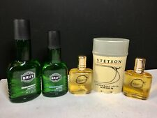 Vintage Cologne Aftershave Bundle - Stetson For Men 3 pc Set & Brut 2 Pc Set