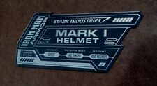IRON MAN MARK 1 DISPLAY NAME PLACARD FOR YOUR HELMET ARMOR I