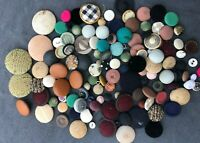 Vintage Mix Lot of 125 Fabric Cover Buttons #339