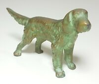 Vintage Antique Bronze Setter Dog Sculpture Statue