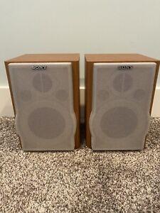 Pair of SONY SS-CEP707 Bookshelf Speakers, Wood, TESTED