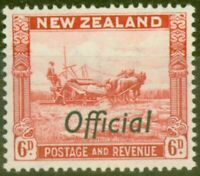 New Zealand 1942 6d Scarlet SG0127c Very Fine MNH