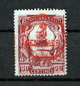 HAITI 1906, 2C Red Overprint over 50 centimes, Sc# 109 Mint Hinged  MH